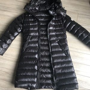 SOLD $749 Moncler Long Puffer Coat Blk Size One 1